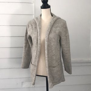 5/$20 Wool & Alpaca Blend Hooded Cardigan Pockets